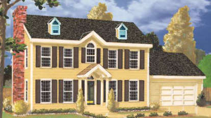 4 Bed, 2 Bath, 2141 Square Foot House Plan #033-00076