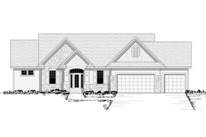 3 Bed, 2 Bath, 1632 Square Foot House Plan - #098-00072