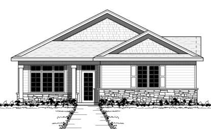 2 Bed, 2 Bath, 1609 Square Foot House Plan - #098-00073