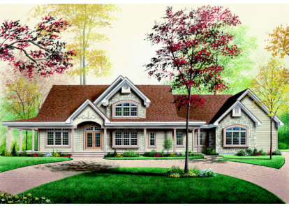 3 Bed, 2 Bath, 2802 Square Foot House Plan - #034-00032