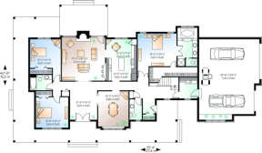 First Floor for House Plan #034-00032
