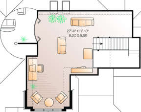 SecondFloor for House Plan #034-00032