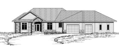 3 Bed, 2 Bath, 2028 Square Foot House Plan - #098-00084