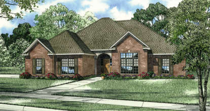 3 Bed, 2 Bath, 2422 Square Foot House Plan - #110-00091
