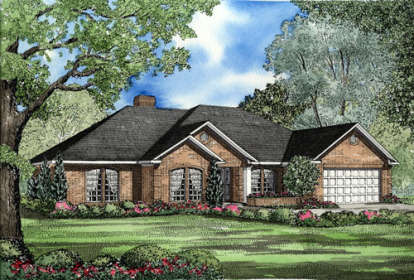 4 Bed, 2 Bath, 2107 Square Foot House Plan - #110-00093