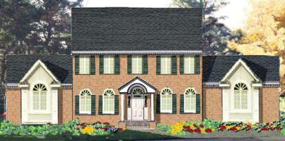 4 Bed, 2 Bath, 2256 Square Foot House Plan - #033-00077