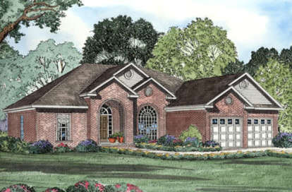 4 Bed, 2 Bath, 2238 Square Foot House Plan - #110-00097