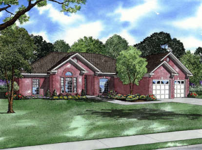 4 Bed, 3 Bath, 2439 Square Foot House Plan - #110-00103