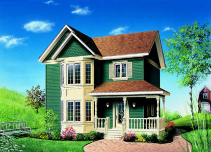 3 Bed, 1 Bath, 1286 Square Foot House Plan - #034-00033