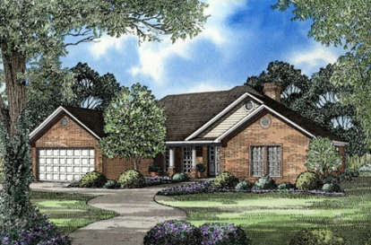 4 Bed, 2 Bath, 1940 Square Foot House Plan - #110-00104