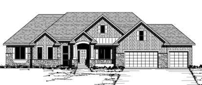 3 Bed, 2 Bath, 2361 Square Foot House Plan - #098-00090