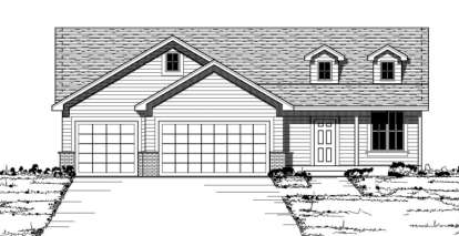 3 Bed, 3 Bath, 2419 Square Foot House Plan - #098-00093