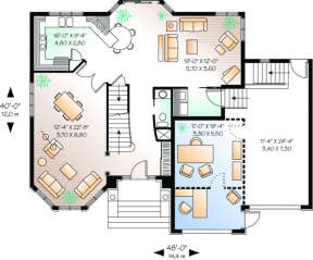 First Floor for House Plan #034-00034