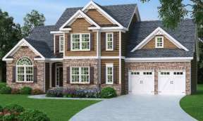 Traditional House Plan #009-00014 Elevation Photo