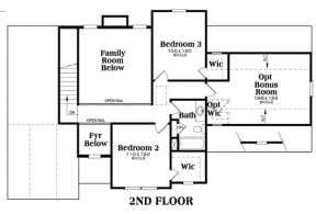 Second Floor for House Plan #009-00014