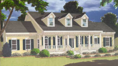 5 Bed, 3 Bath, 3246 Square Foot House Plan - #033-00082