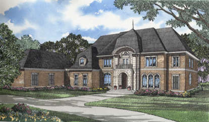 4 Bed, 4 Bath, 7338 Square Foot House Plan - #110-00112