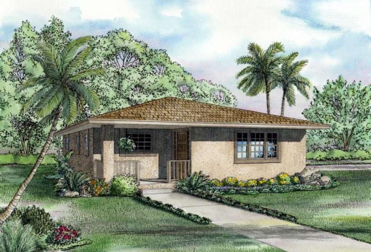 House Plan 168-00001 - Ranch Plan: 1,052 Square Feet, 2 Bedrooms, 1 on