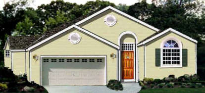 3 Bed, 2 Bath, 1503 Square Foot House Plan - #033-00084