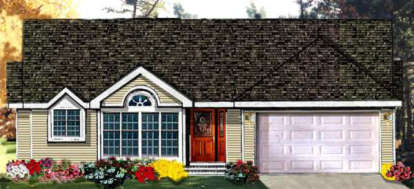 3 Bed, 2 Bath, 1527 Square Foot House Plan - #033-00085
