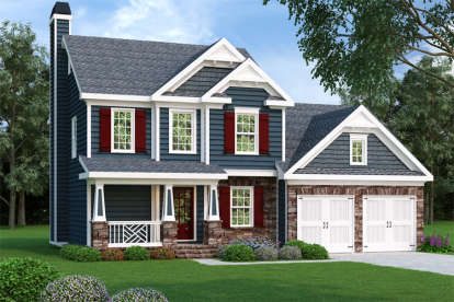 3 Bed, 2 Bath, 1496 Square Foot House Plan - #009-00015