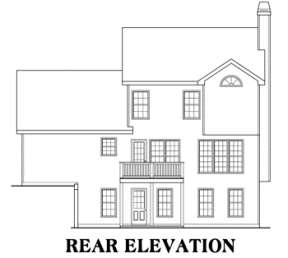 Country House Plan #009-00015 Elevation Photo