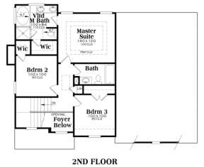 Second Floor for House Plan #009-00015