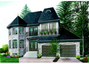 European House Plan #034-00039 Elevation Photo