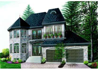 3 Bed, 2 Bath, 2042 Square Foot House Plan - #034-00039