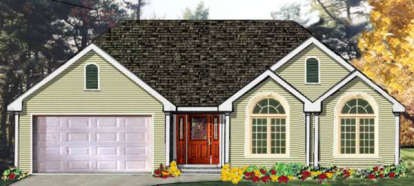 3 Bed, 2 Bath, 1538 Square Foot House Plan - #033-00086