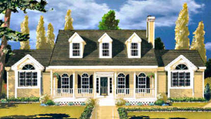 3 Bed, 2 Bath, 1571 Square Foot House Plan - #033-00087