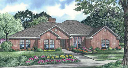 4 Bed, 2 Bath, 2537 Square Foot House Plan - #110-00130