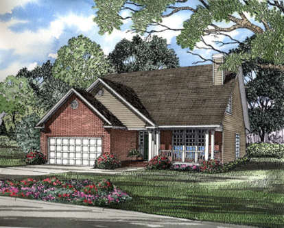 3 Bed, 3 Bath, 2078 Square Foot House Plan - #110-00133