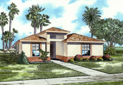 3 Bed, 2 Bath, 1720 Square Foot House Plan - #168-00016