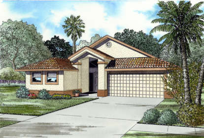 4 Bed, 2 Bath, 1769 Square Foot House Plan - #168-00018