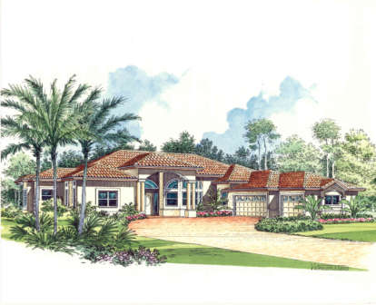 4 Bed, 3 Bath, 3775 Square Foot House Plan - #168-00027