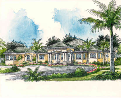4 Bed, 4 Bath, 4680 Square Foot House Plan #168-00030
