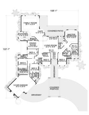 Floorplan 1 for House Plan #168-00031