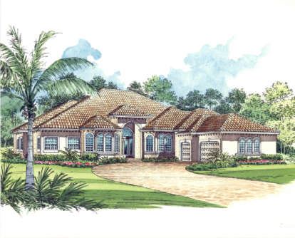 5 Bed, 4 Bath, 5131 Square Foot House Plan - #168-00032