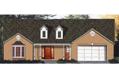 3 Bed, 2 Bath, 1748 Square Foot House Plan - #033-00089