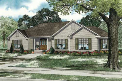 3 Bed, 2 Bath, 2096 Square Foot House Plan - #110-00139