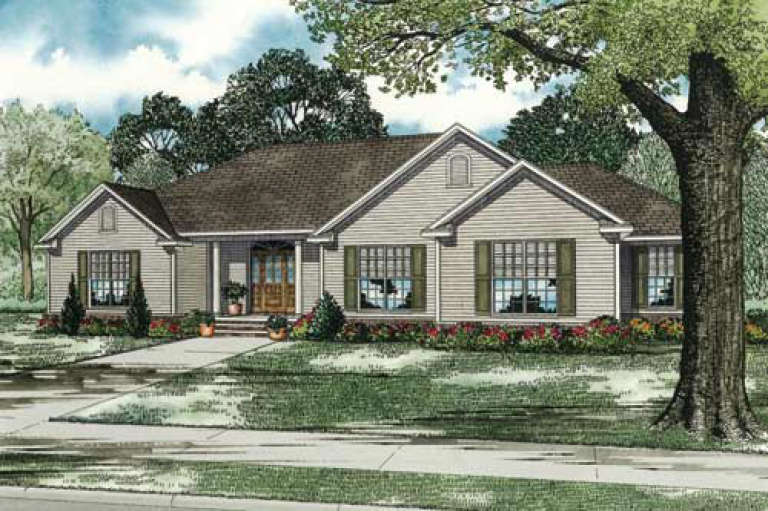 Ranch House Plan #110-00139 Elevation Photo