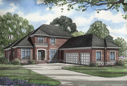 4 Bed, 3 Bath, 3203 Square Foot House Plan - #110-00142