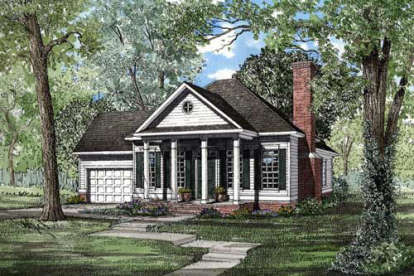 2 Bed, 2 Bath, 1172 Square Foot House Plan - #110-00149