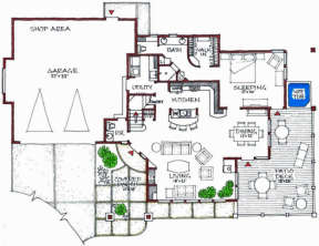 Floorplan 1 for House Plan #192-00023