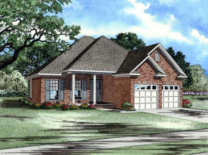 3 Bed, 2 Bath, 1504 Square Foot House Plan - #110-00167