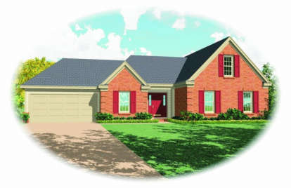 3 Bed, 2 Bath, 1609 Square Foot House Plan - #053-00450
