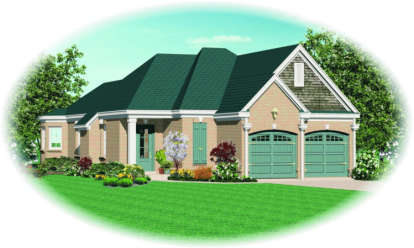 3 Bed, 2 Bath, 1589 Square Foot House Plan - #053-00452
