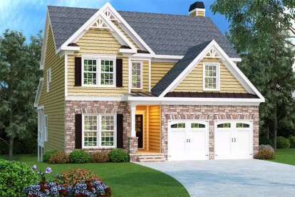 4 Bed, 2 Bath, 2339 Square Foot House Plan - #009-00017