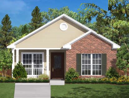 2 Bed, 1 Bath, 850 Square Foot House Plan - #041-00023